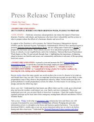 Press Release Template - Ready.gov