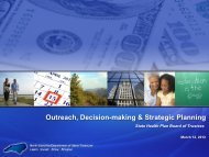 Outreach, Decision-making & Strategic Planning - State Health Plan