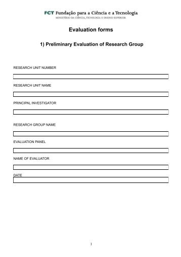 Evaluation forms - CITI