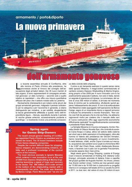 La nuova primavera dell'armamento genovese - Porto & diporto