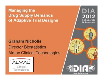 Managing the Drug Supply Demands of Adaptive Trial ... - Almac