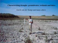 groundwater, wetlands and lakes (Garth van der Kamp) - Drought ...