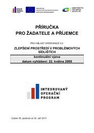 Příručka pro žadatele a příjemce 30-9-2011 - Město Kroměříž