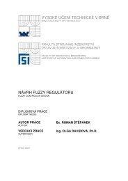 vysoké učení technické v brně návrh fuzzy regulátoru - Ústav ...