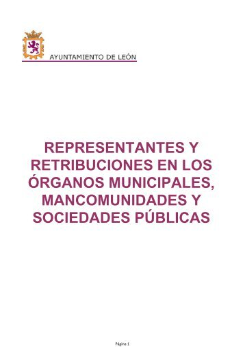 RETRIBUCIONES AYTO LEON 2013.pdf - Ayuntamiento de León