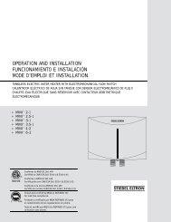 Mini™ Tankless Electric Water Heater Installation ... - Stiebel Eltron