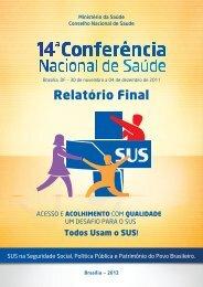 Relatório Final da 14ª Conferência Nacional de Saúde - Conselho ...