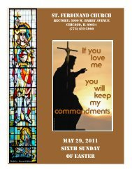 may 29, 2011 sixth sunday of easter - Parafia św. Ferdynanda w ...