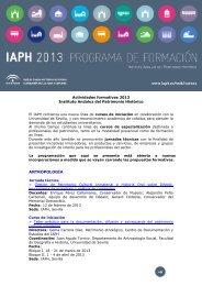 Cursos_IAPH_2013 - IAPH. Instituto Andaluz del Patrimonio Historico
