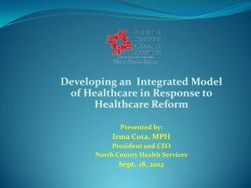Developing an Integrated Model of Healthcare in Response to ...