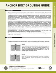 ANCHOR BOLT GROUTING GUIDE - Euclid Chemical Co