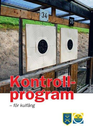 Kontrollprogram - Svenska Pistolskytteförbundet