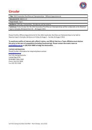 2013 Pool Rescue Championships - Officials Appointments