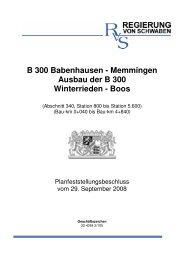 B 300 Babenhausen - Regierung von Schwaben - Bayern