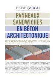 Panneaux sandwiches en béton architectonique - Febe