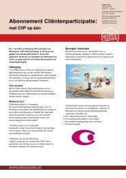 Abonnement Cliëntenparticipatie: - Stichting CliP
