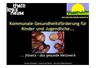 Kommunale Gesundheitsförderung für Kinder und Jugendliche...
