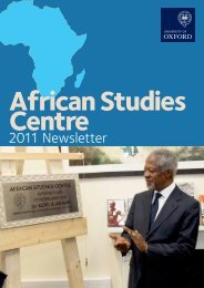 2011 Newsletter - African Studies Centre - University of Oxford