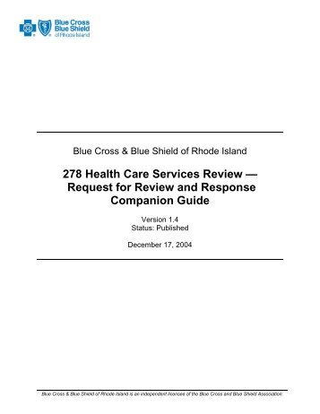 Request for Review and Response Companion Guide - Blue Cross ...