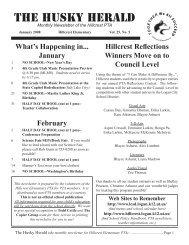 Husky Herald 01-08.indd - Hillcrest Elementary