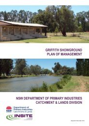 GRIFFITH SHOWGROUND PLAN OF MANAGEMENT NSW ... - Land