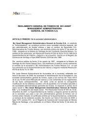REGLAMENTO GENERAL DE FONDOS BCI ASSET ...