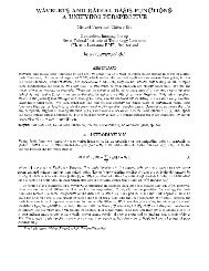 wavelets and radial basis functions: a unifying perspective - CiteSeerX