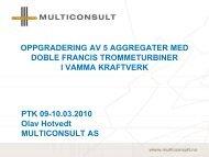 OPPGRADERING AV 5 AGGREGATER MED DOBLE ... - Energi Norge