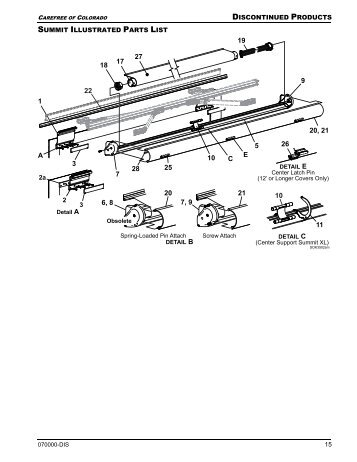 Travel'r Adjustable Pitch Illustrated Parts List