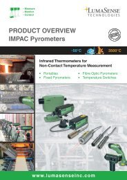 Product Overview LumaSense (IMPAC pyrometers) - Imimg