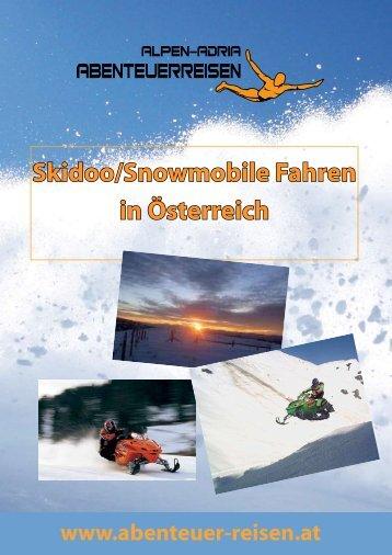 Skidoo/Snowmobile Fahren in Österreich - Abenteuer Reise in ...