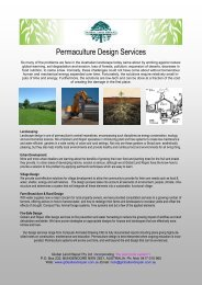 Example Design Services Advert - Permaculture Research Institute