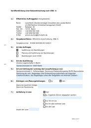 Veröffentlichung einer Bekanntmachung nach VOB - Die ...