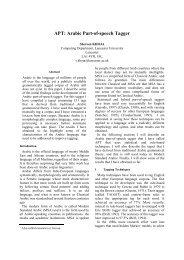 APT: Arabic Part-of-speech Tagger - Computer Science