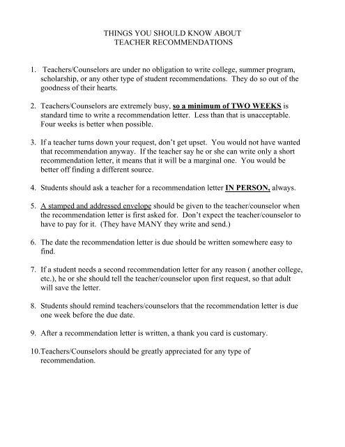 Brag Sheet Letter Of Recommendation Request Form