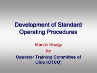 Development of Standard Operating Procedures - Ohiowater.org