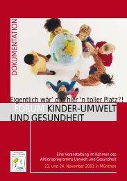"""""""Forum Kinder-Umwelt und Gesundheit"""" (PDF) - APUG"""