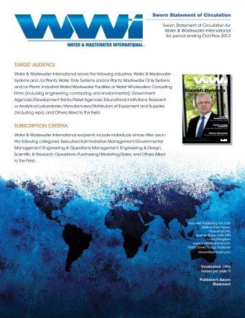 Water & Wastewater International Publisher's Sworn ... - WaterWorld