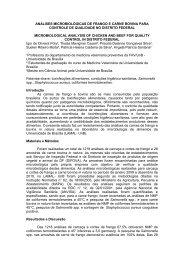 análises microbiológicas de frango e carne bovina para ... - SOVERGS