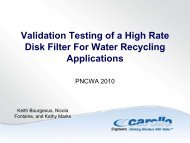 Validation Testing of a High Rate Disk Filter For Water ... - pncwa