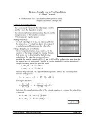 Fitting a Straight Line to Two Data Points (A Short Tutorial) A ...