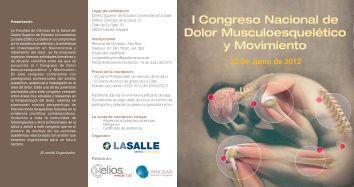 I Congreso Nacional de Dolor Musculoesquelético y ... - Fisaude