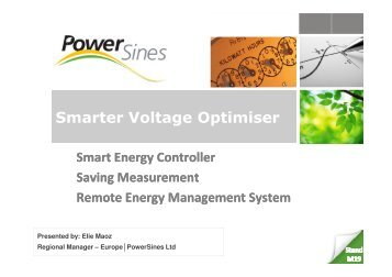 Smarter Voltage Optimiser - Sustainability Live