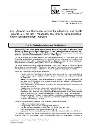 Antwort des DV - EUFIS: Das EU-Fachinformationssystem