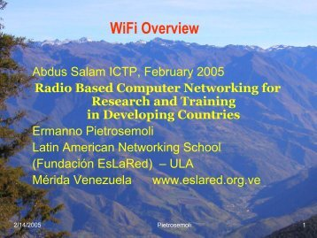 WiFi Overview - Wireless@ICTP
