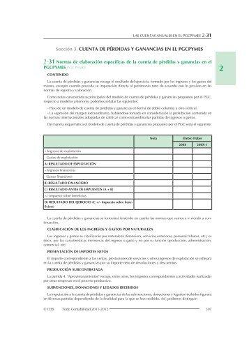 Sección 3. CUENTA DE PÉRDIDAS Y GANANCIAS EN EL ... - CISS