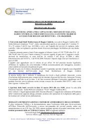degli studi mediterranea di reggio calabria disciplinare di gara ...