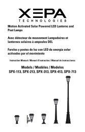 Models / Modèles / Modelos SPX-113, SPX-213, SPX ... - Home Depot