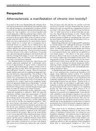 Atherosclerosis: a manifestation of chronic iron toxicity?