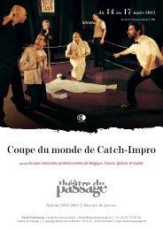 Coupe du monde de Catch-Impro - Théâtre du Passage